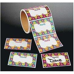 Hibiscus Tropical Name Tags