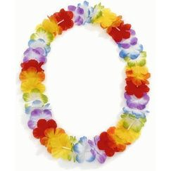 Rainbow Flower Leis - pk12