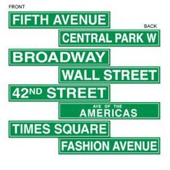 New York NYC Street Signs - pk4