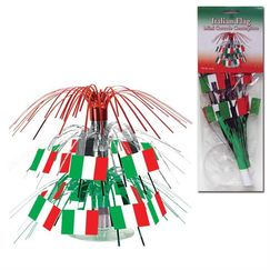 2-tier Red White Green Flag Mini Centrepiece