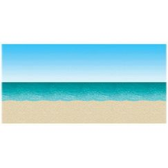 Ocean and Beach Scene Setter Backdrop