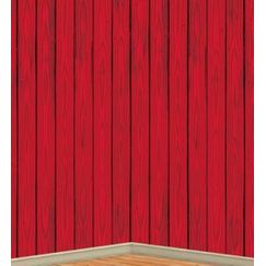 Red Barn Panelling Scene Setter Backdrop