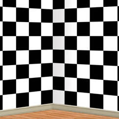 Checkered Flag Scene Setter Backdrop