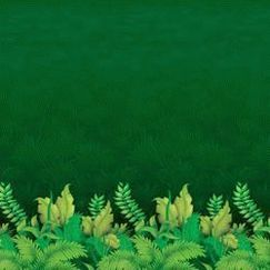 Jungle Foliage Scene Setter Backdrop