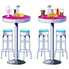 Soda Shop Tables and Stools Add Ons