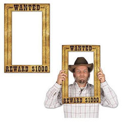 Wanted Poster Photo Frame Prop