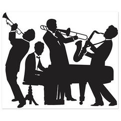 20's Jazz Band Insta Mural Backdrop