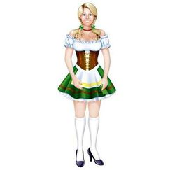 Oktoberfest Fraulein Cut-out