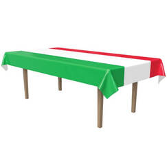Green White Red Tablecloth