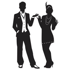 20's Gatsby Silhouettes Cut-outs - pk2