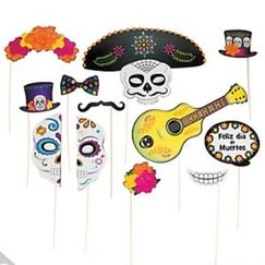 Day Of The Dead Photo Stick Props - pk12