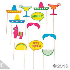 Fiesta Photo Stick Props - pk12
