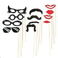Costume Photo Stick Props - pk12