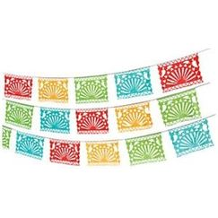 Jumbo Mexican Fiesta Flag Banner - 30mtrs