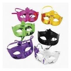 Metallic Moulded Masks - pk6