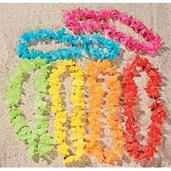 Assorted Flower Leis - pk12