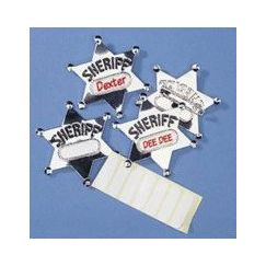 Metal Sheriff Badges - pk12