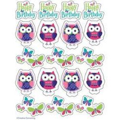 Owl Pal Party Stickers - pk4
