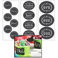 Blank Chalkboard Label Kit