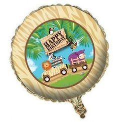 Safari Adventure Birthday Balloon