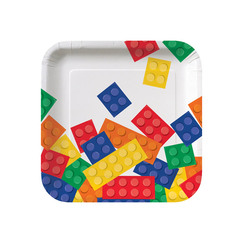 Block Party Snack Plates - pk8