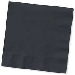 Small Black Napkins - pk50