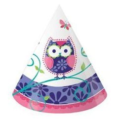 Owl Pal Party Cone Hats
