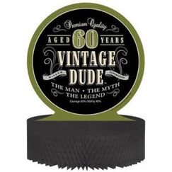 Vintage Dude 60th Centrepiece