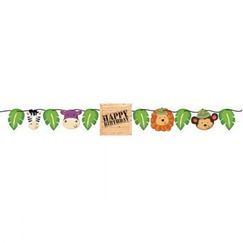 Safari Adventure Birthday Ribbon Banner