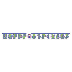 Large Jointed Owl Pal Birthday Banner