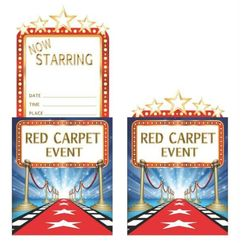Red Carpet Event Party Invitations - pk8