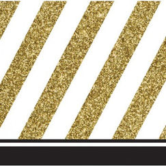 Small Black & Gold Napkins
