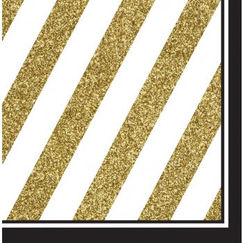Large Black & Gold Napkins