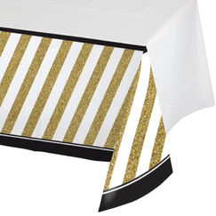 Black & Gold Tablecloth