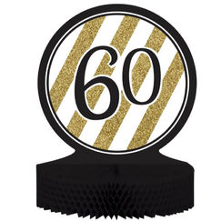 Black & Gold 60th Centrepiece