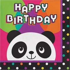 Panda Monium Birthday Napkins
