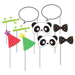 Panda Monium Photo Stick Props - pk10