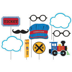 All Aboard Trains Photo Stick Props - pk10