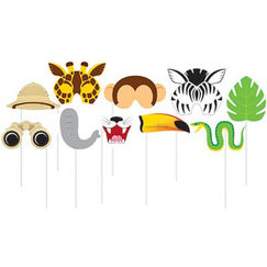 Jungle Party Photo Stick Props - pk10