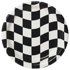 Checkered Flag Snack Plates