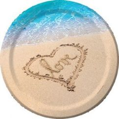 X-Large Beach Love Plates