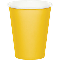 Yellow Paper Cups - pk24