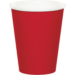 Classic Red Paper Cups - pk24