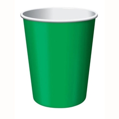 Emerald Green Paper Cups - pk24