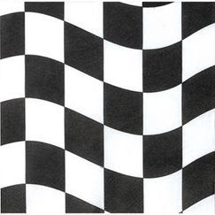 Small Checkered Flag Napkins - pk16