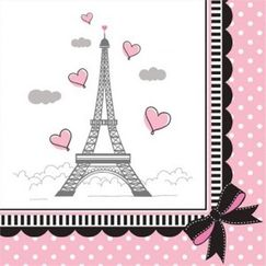 Small Party In Paris Napkins - pk18