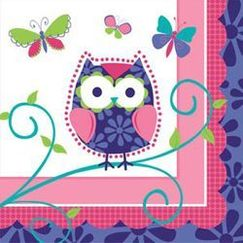 Small Owl Pal Napkins