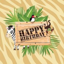 Safari Adventure Birthday Napkins