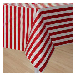 Circus Time Red and White Stripes Tablecloth