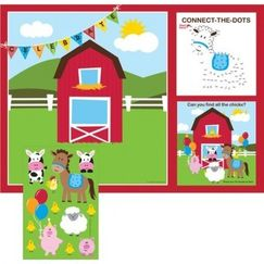 Farmhouse Fun Placemats Game - pk8
